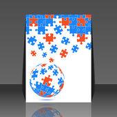 Головоломки штук Векторный дизайн - флайер — Cтоковый вектор