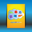 Stock Vector: Abstract colorful big cloud computing - flyer design