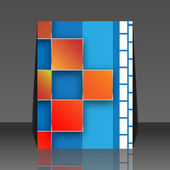 Seamless blocks vector background - flyer design — Stock Vector