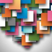 Colorful square empty background - blank quadrat vector design — Stock Vector