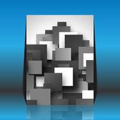 Black and white square empty background - blank quadrat vector d — Stock Vector