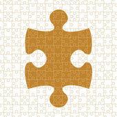 Disegno vettoriale pezzi di puzzle — Vettoriale Stock