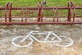 Sinal de estacionamento de bicicletas — Foto Stock