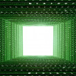 Green matrix tunne — Stock Photo
