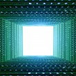 Green matrix tunnel — Stock Photo #27164913