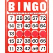 Red bingo card — Stock Photo