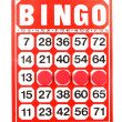 Red bingo card — Stock Photo #27354795