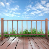 Wooden terrace — Stock Photo