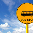 Bus stop sign — Stock Photo
