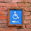 Wheelchair wooden sign — Stock Photo