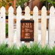 White picket fence — Stock Photo #28705615