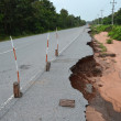 Road eroded — Stock Photo