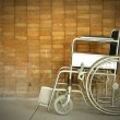 A wheel chair in a hospital — Foto Stock