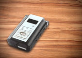 Sound recorder on table — Stock Photo