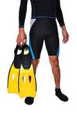 Man med snorklingsutrustning isolerade — Stockfoto