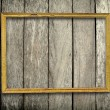 Wooden frame on wood wall — Foto de Stock