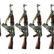 Stock Photo: Ak 47 on white background