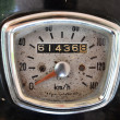 Stock Photo: Ole motorcycle speed meter