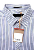 Shirt with price tag — Stock Photo