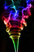 Textured of incense smoke — Stock Photo