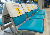 Priority seat for monk — Stock Photo