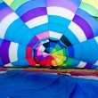 Inside the hot air balloon — Stock Photo