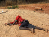 One child passed out to the edge of the forest - Tanzania - Afri — Stock Photo