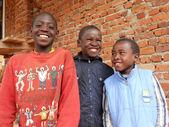 非洲 400-微笑的非洲儿童的日常生活瞬间 — 图库照片