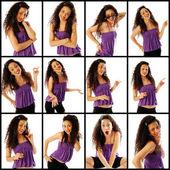 Twelve funny expressions — Stock Photo