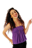 Girl exuberant and dynamic 071 — Stock Photo