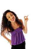 Girl exuberant and dynamic 072 — Stock Photo
