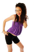 Girl exuberant and dynamic 084 — Stock Photo