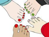 Amici per i piedi — Foto Stock