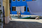 Casas de burano - venecia - italia 118 — Foto de Stock