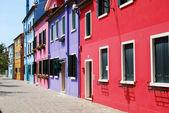Domy Włochy burano - Wenecja - 171 — Zdjęcie stockowe