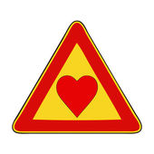 Caution, love in progress — Stock Photo