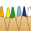 Set of colored pencils — Foto de stock #13584393