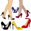 Tribute to high heels — Stock Photo
