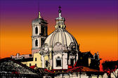 Postcards of Italy - A view of Rome — Stock Photo