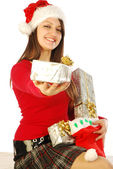 The gifts of a gracious Santa Claus - 037 — Stock Photo
