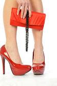 červené boty 179 — Stock fotografie