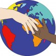 A world against racism — Stock Photo