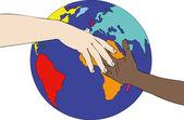 人種差別の世界 — ストック写真