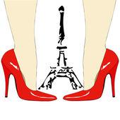 Moda pod wieżą eiffla - paryż — Zdjęcie stockowe