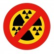 Prohibition of Radiation — Stock Photo