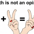 Math is not an opinion — ストック写真