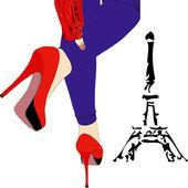 Elegancja w paryżu — Wektor stockowy