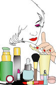 Beauty and body care — Stock Vector