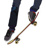 Evolutions on board skateboard — Stock Vector