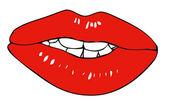 Fleshy lips — Stock Vector